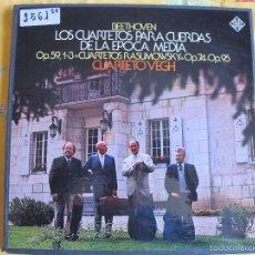 Discos de vinilo: LP-BEETHOVEN-LOS CUARTETOS PARA CUERDAS DE LA EPOCA MEDIA (CAJA CON 3 LP'S, TELEFUNKEN 1976). Lote 57709855