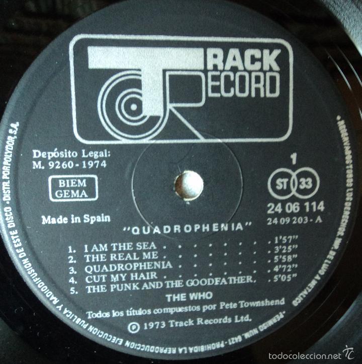 Discos de vinilo: The Who - Quadrophenia - Edición de 1974 de España - Doble y con Libreto - Foto 6 - 57711429