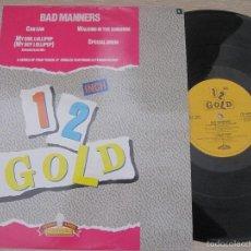 Discos de vinilo: BAD MANNERS `CAN CAN`-`MY GIRLS LOLLIPOP`(MY BOY LOLLIPOP). Lote 57662814