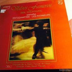Discos de vinilo: EMIL WALDTEUFEL (VALSES FAMOSOS) LP ESPAÑA 1988 (VINC). Lote 57715823