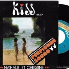 Dischi in vinile: NATHALIE ET CHRISTINE CON LES VIBRATIONS: KISS (PART 1) / KISS (PART 2). Lote 57718024