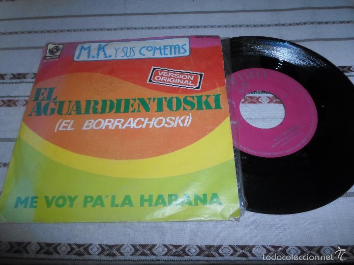 M.K Y SUS COMETAS M.K Y SUS COMETAS EL AGUARDIENTOSKI (Música - Discos - Singles Vinilo - Grupos Españoles de los 70 y 80)