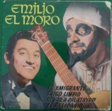 Discos de vinilo: EMILIO EL MORO: EL EMIGRANTE/ TRIGO LIMPIO/ SI VAS A CALATAYUD/ EL RELICARIO. Lote 57740619