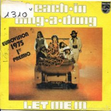 Dischi in vinile: TEACH - IN / DING-A-DONG / LET ME IN (SINGLE 1975( EUROVISION 1975. Lote 57743109