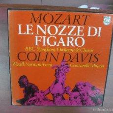 Discos de vinilo: MOZART. LE NOZZE DI FIGARO. BBC SYMPHONY ORCHESTRA.COLIN DAVIS. PHILIPS. 4 LP'S + LIBRETO.. Lote 57751644