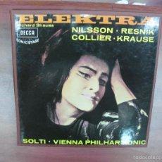 Discos de vinilo: ELEKTRA. STRAUSS. NILSSON. RESNIK. SOLTI. DECCA. SXLE 345. 2 LP'S + LIBRETO.. Lote 57751732