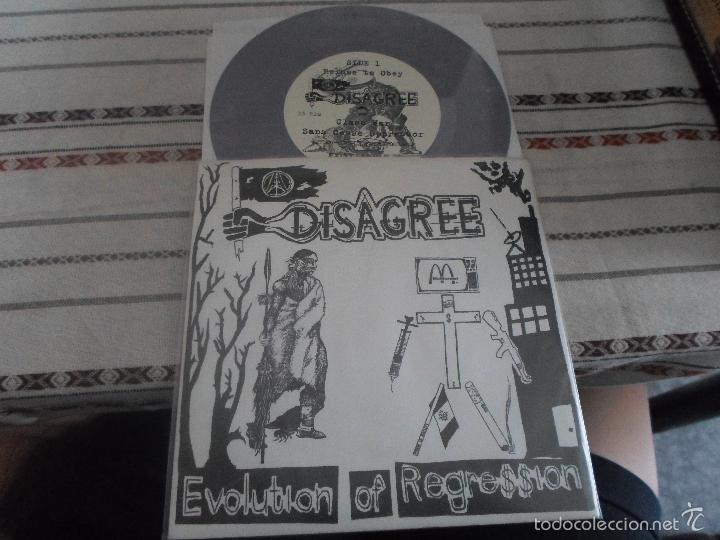 DISAGREE EVOLUTION OF REGRESSION (Música - Discos - Singles Vinilo - Punk - Hard Core)