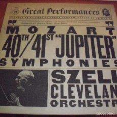 Discos de vinilo: LP DE MOZART. SINFONIA 40 Y 41 JUPITER. SZELL CLEVELAND ORCHESTRA. EDICION CBS DE 1981.. Lote 57756329