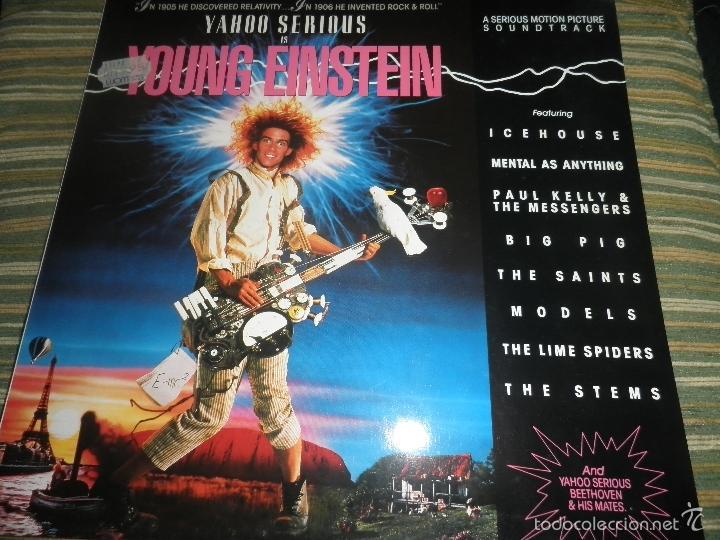 YOUNG EINSTEIN B.S.O. LP - ORIGINAL ALEMAN - A&M RECORDS 1988 CON FUNDA INT. ORIGINAL - (Música - Discos - LP Vinilo - Bandas Sonoras y Música de Actores )