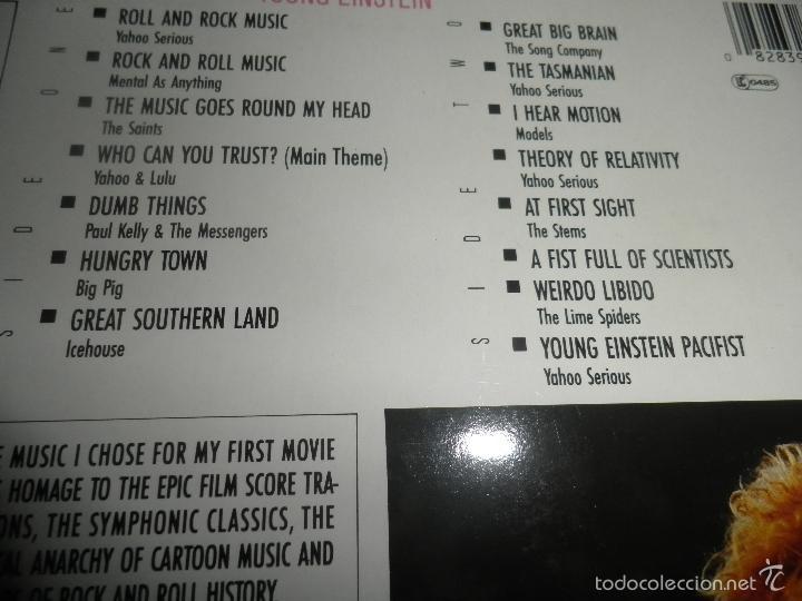 Discos de vinilo: YOUNG EINSTEIN B.S.O. LP - ORIGINAL ALEMAN - A&M RECORDS 1988 CON FUNDA INT. ORIGINAL - - Foto 8 - 57761917