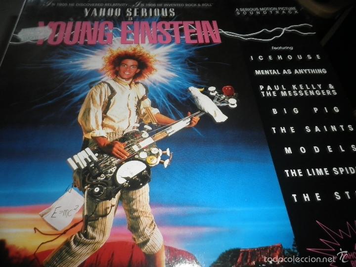 Discos de vinilo: YOUNG EINSTEIN B.S.O. LP - ORIGINAL ALEMAN - A&M RECORDS 1988 CON FUNDA INT. ORIGINAL - - Foto 11 - 57761917
