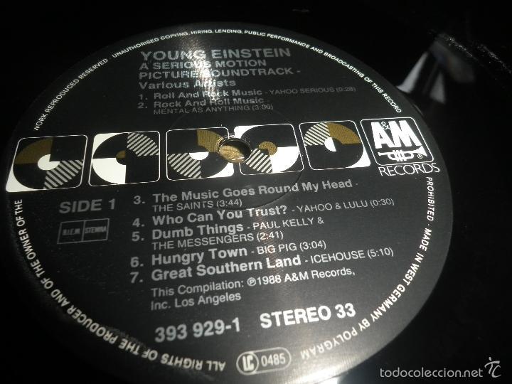 Discos de vinilo: YOUNG EINSTEIN B.S.O. LP - ORIGINAL ALEMAN - A&M RECORDS 1988 CON FUNDA INT. ORIGINAL - - Foto 16 - 57761917