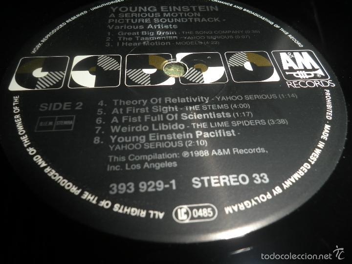 Discos de vinilo: YOUNG EINSTEIN B.S.O. LP - ORIGINAL ALEMAN - A&M RECORDS 1988 CON FUNDA INT. ORIGINAL - - Foto 21 - 57761917