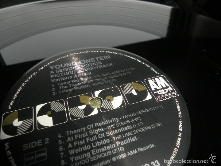 Discos de vinilo: YOUNG EINSTEIN B.S.O. LP - ORIGINAL ALEMAN - A&M RECORDS 1988 CON FUNDA INT. ORIGINAL - - Foto 23 - 57761917