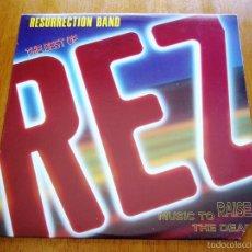 Discos de vinilo: RESURRECTION BAND BEST OF REZ 1984 CHRISTIAN HARD ROCK ORIGINAL LP. Lote 57764198
