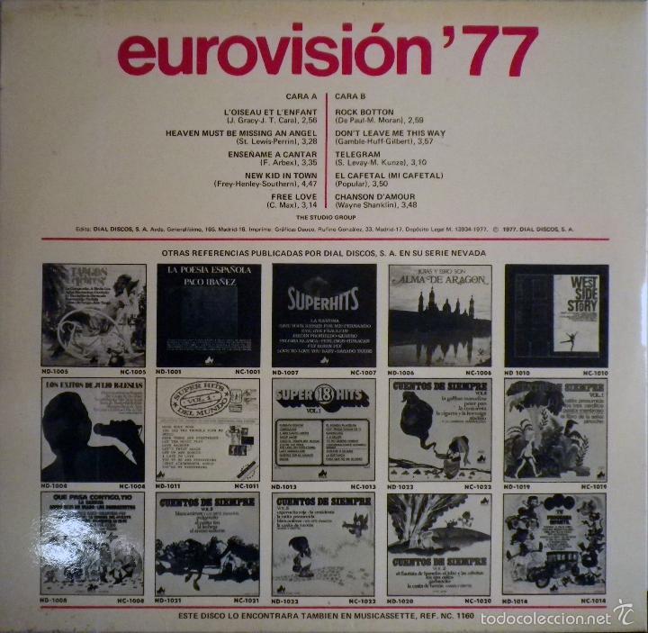 Discos de vinilo: LP EUROVISION 77 (1977), loiseau lenfant, enseñame a cantar, free love, rock botton - Foto 3 - 26720533
