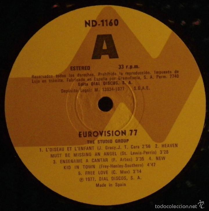 Discos de vinilo: LP EUROVISION 77 (1977), loiseau lenfant, enseñame a cantar, free love, rock botton - Foto 4 - 26720533