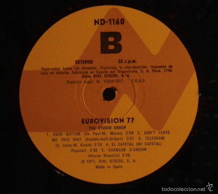 Discos de vinilo: LP EUROVISION 77 (1977), loiseau lenfant, enseñame a cantar, free love, rock botton - Foto 5 - 26720533