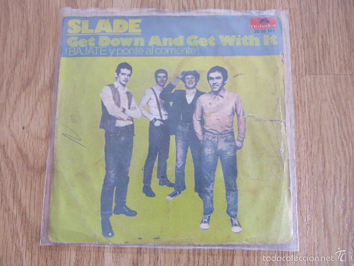 RARE SPAIN SINGLE SLADE GET DOWN AND GET WITH IT SWEET BOX SUZI QUATRO STATUS QUO T-REX BUDGIE (Música - Discos de Vinilo - Maxi Singles - Pop - Rock Extranjero de los 70)