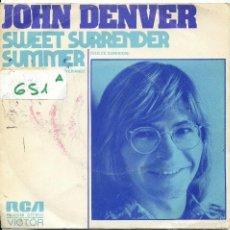 Disques de vinyle: JOHN DENVER / DULCE SUMISION / VERANO (SINGLE PROMO 1975). Lote 57771560