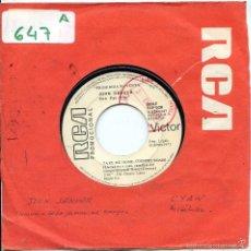 Disques de vinyle: JOHN DENVER CON FAT CITY / LLEVADME A CASA.-. CYAN / MISALUBA (SINGLE PROMO 1971). Lote 57771662