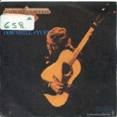 Discos de vinilo: JOHN DENVER / DOWNHILL STUFF / LIFE IS SO GOOD (SINGLE PROMO 1979). Lote 57771795