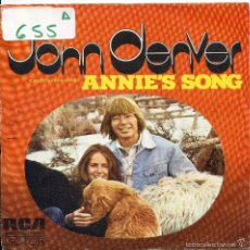 Dischi in vinile: JOHN DENVER / ANNIE'S SONG / COOL AN' GREEN AN' SHADY (SINGLE PROMO 1974). Lote 57771856