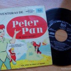 Discos de vinilo: LAS AVENTURAS DE PETER PAN (RCA 45 RPM) 1953- DISCOHUCK. Lote 57775623