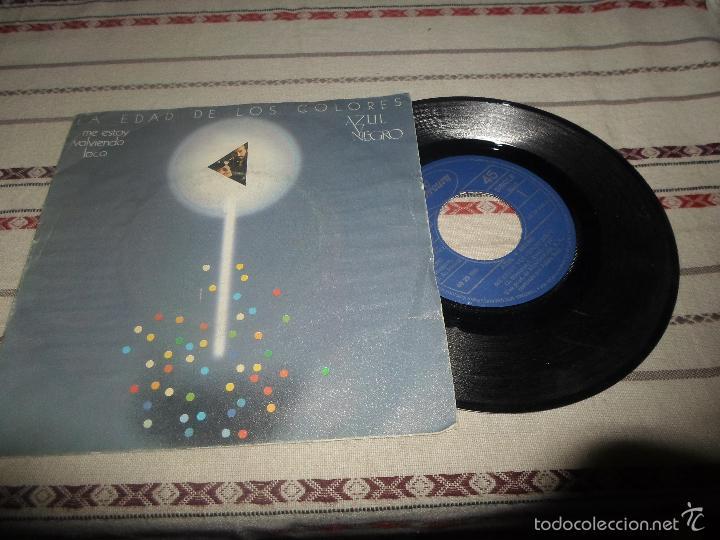 LA EDAD DE LOS COLORES AZUL Y NEGRO (Música - Discos - Singles Vinilo - Grupos Españoles de los 70 y 80)