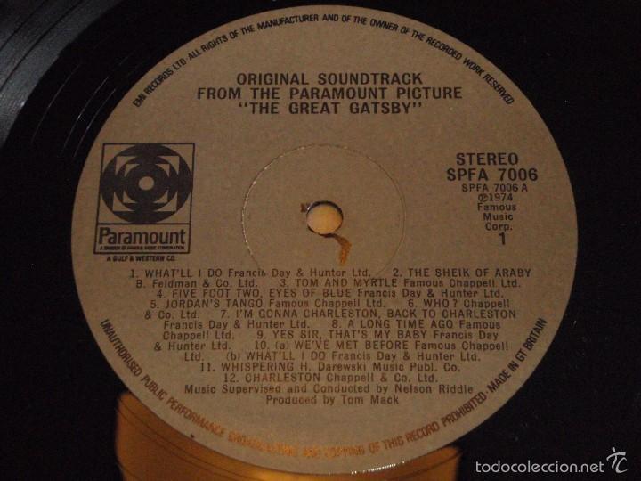 Discos de vinilo: THE GREAT GATSBY ENGLAND - 1974 LP33 PARAMOUNT - Foto 6 - 57799475