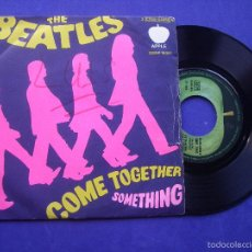 Discos de vinilo: THE BEATLES COME TOGETHER/SOMETHING SINGLE ITALIA 1969 PDELUXE. Lote 229179445