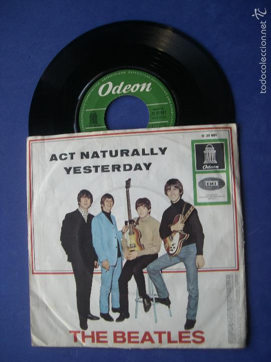 THE BEATLES ACT NATURALLY / YESTERDAY SINGLE ALEMANIA 1965 (Música - Discos - Singles Vinilo - Pop - Rock Extranjero de los 50 y 60)