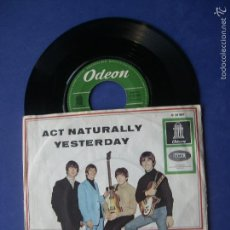 Discos de vinilo: THE BEATLES ACT NATURALLY / YESTERDAY SINGLE ALEMANIA 1965 PDELUXE. Lote 57799943