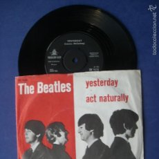 THE BEATLES YESTERDAY / ACT NATURALLY SINGLE DINAMARCA 1965 PDELUXE