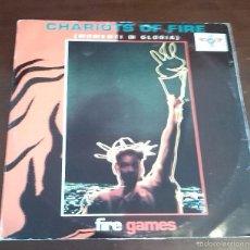 Discos de vinilo: FIRE GAMES - CHARIOTS OF FIRE - MAXI SINGLE.12. Lote 57810591