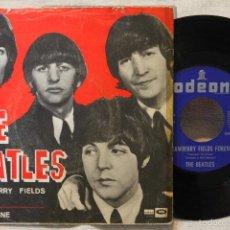 Discos de vinilo: THE BEATLES SINGLE STRAWBERRY FIELDS FOREVER PENNY LANE VINYL DSOL 66.077 MADE IN SPAIN 1967. Lote 57819434