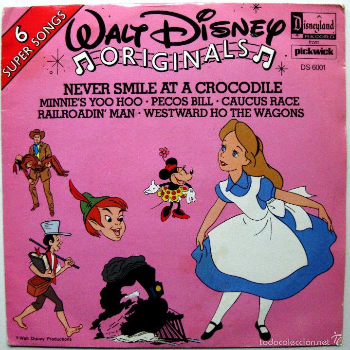 WALT DISNEY ORIGINALS - NEVER SMILE AT A CROCODILE +5 - EP DISNEYLAND 1979 UK BPY (Música - Discos de Vinilo - EPs - Música Infantil)