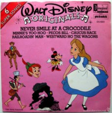Discos de vinilo: WALT DISNEY ORIGINALS - NEVER SMILE AT A CROCODILE +5 - EP DISNEYLAND 1979 UK BPY. Lote 57819662