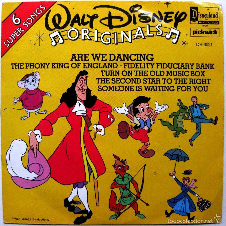WALT DISNEY ORIGINALS - ARE WE DANCING +5 - EP DISNEYLAND 1979 UK BPY (Música - Discos de Vinilo - EPs - Música Infantil)