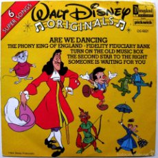 Discos de vinilo: WALT DISNEY ORIGINALS - ARE WE DANCING +5 - EP DISNEYLAND 1979 UK BPY. Lote 57819720