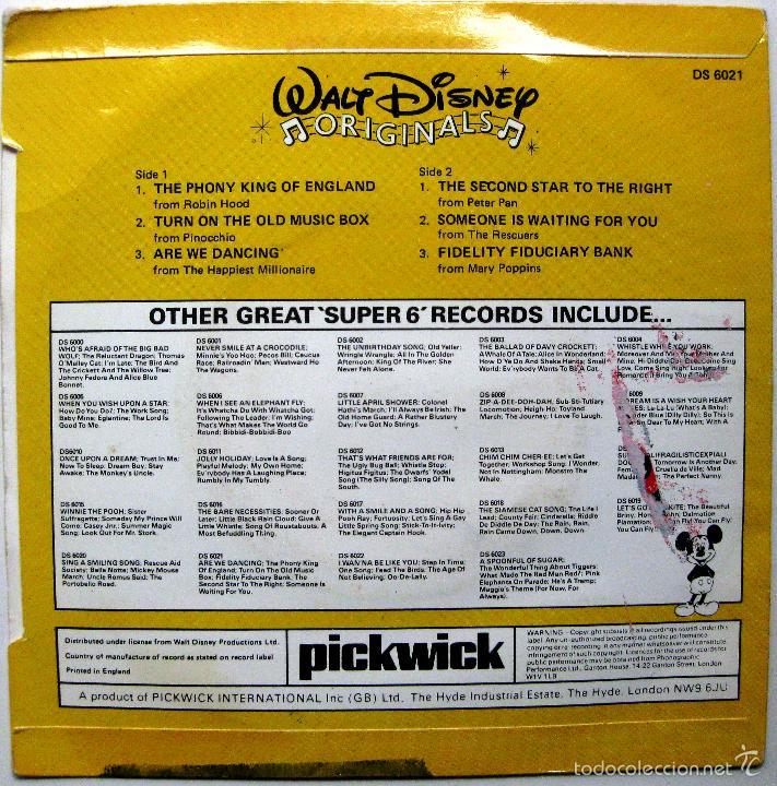 Discos de vinilo: Walt Disney Originals - Are We Dancing +5 - EP Disneyland 1979 UK BPY - Foto 2 - 57819720