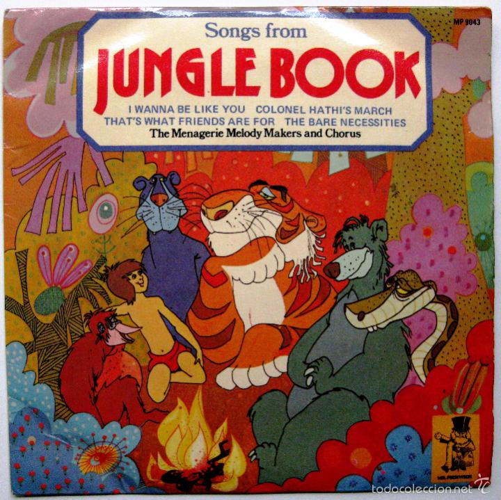 THE MENAGERIE MELODY MAKERS AND CHORUS - SONGS FROM JUNGLE BOOK - EP MR.PICKWICK 1974 UK BPY (Música - Discos de Vinilo - EPs - Música Infantil)