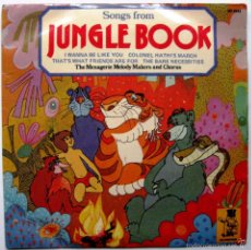 Discos de vinilo: THE MENAGERIE MELODY MAKERS AND CHORUS - SONGS FROM JUNGLE BOOK - EP MR.PICKWICK 1974 UK BPY. Lote 57819864