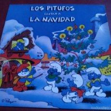 Discos de vinilo: LOS PITUFOS CANTAN A LA NAVIDAD.. Lote 57820369