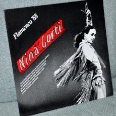 Discos de vinilo: NINA CORTI - LP VINILO 12'' - FLAMENCO '88 - 10 TRACKS - EDITADO EN ALEMANIA - PLANE 1987. Lote 57820427