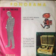 Discos de vinilo: DE RAYMOND - CON LOS CINCO SENTIDOS . SINGLE . 1976 MARFER . Lote 57830978