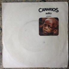 Disques de vinyle: CANARIOS - NIÑO / CHILD . SINGLE . 1968 BARCLAY. Lote 57831191