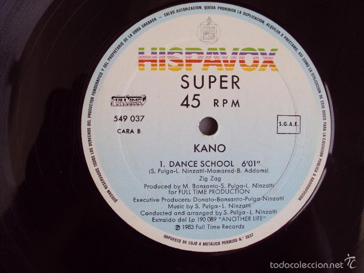 Discos de vinilo: KANO, DANCE SCHOOL, ANOTHER LIFE, MAXI-SINGLE EDICION ESPAÑOLA, HISPAVOX 1983 - Foto 5 - 57834792