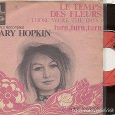 Discos de vinilo: MARY HOPKIN EN FRANCES / LE TEMPS DES FLEURS / SINGLE 45 RPM // EDITADO POR ODEON. Lote 57836473