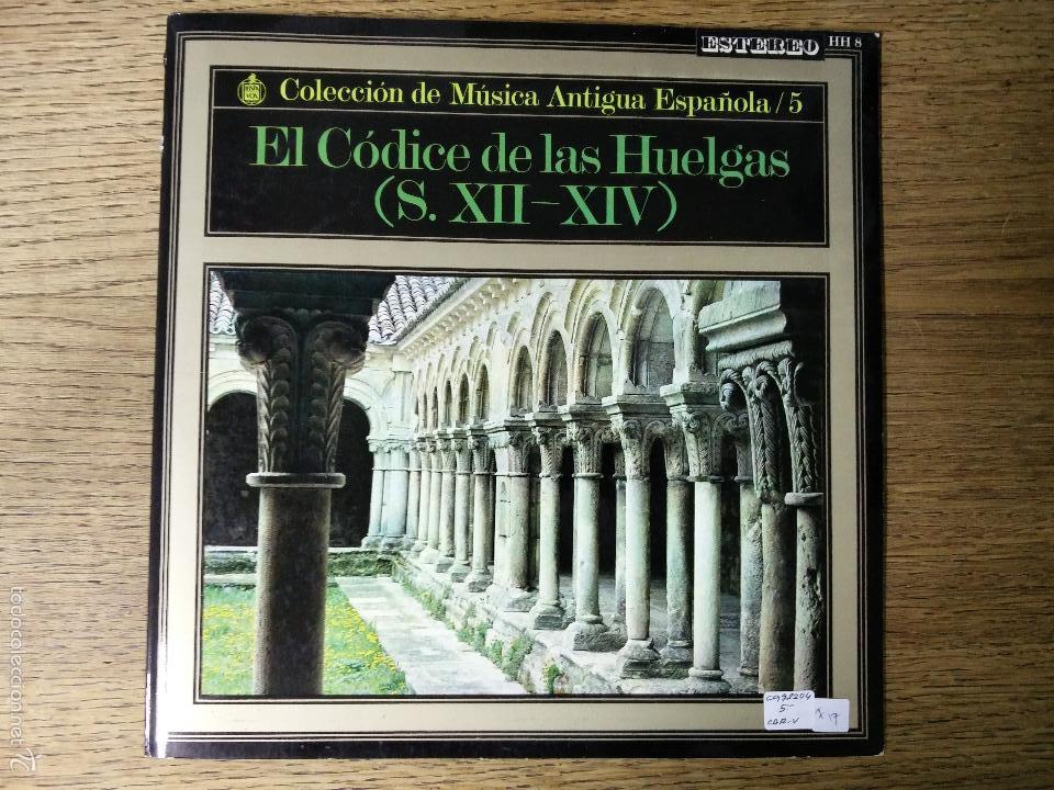 C.M.A.E. Nº 5 EL CÓDIGO DE LAS HUELGAS -S. XII - S-XIV (Música - Discos - LP Vinilo - Clásica, Ópera, Zarzuela y Marchas)